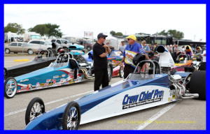 Don Higgins, track side with the Crew Chief Pro dragster