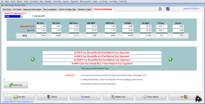 Crew Chief Pro drag racing software - Finish Line Manager reports detailed specs about your race